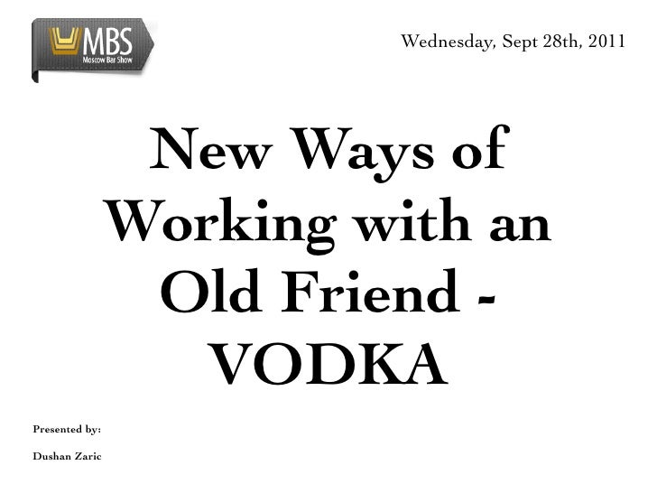 Wednesday, Sept 28th, 2011                 New Ways of                Working with an                 Old Friend -        ...