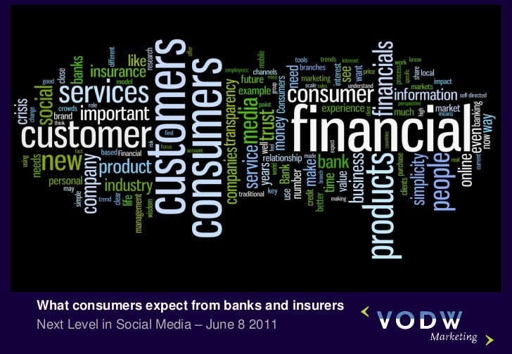 What consumers expect from banks and insurersNext Level in Social Media – June 8 2011