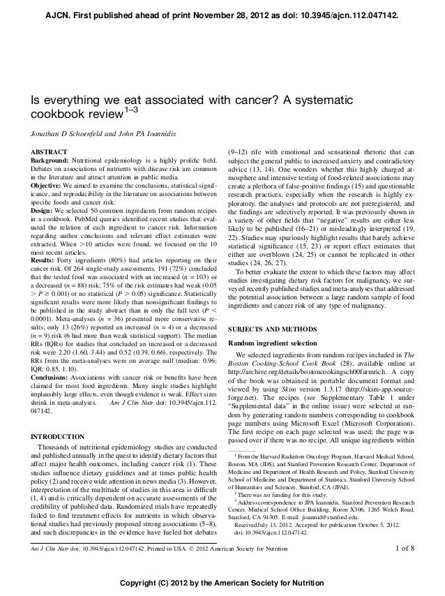 AJCN. First published ahead of print November 28, 2012 as doi: 10.3945/ajcn.112.047142.Is everything we eat associated wit...