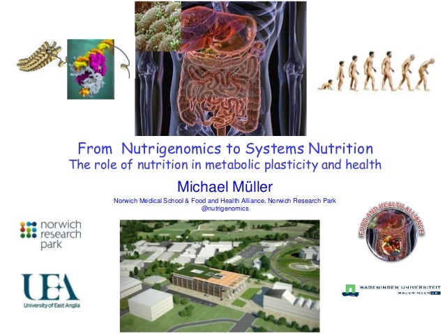 From Nutrigenomics to Systems Nutrition The role of nutrition in metabolic plasticity and health Michael Müller Norwich Me...