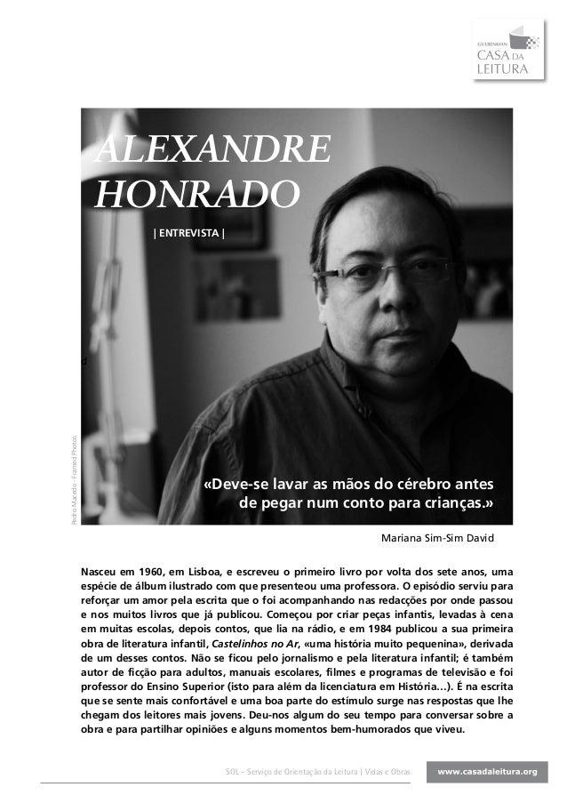 ALEXANDRE                                   HONRADO                                             | ENTREVISTA |            ...