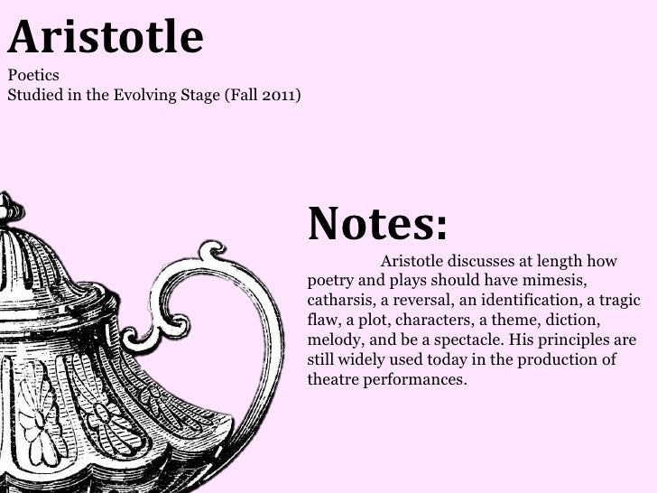 AristotlePoeticsStudied in the Evolving Stage (Fall 2011)                                            Notes:               ...