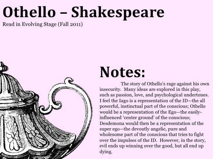 Othello – ShakespeareRead in Evolving Stage (Fall 2011)                                     Notes:                        ...