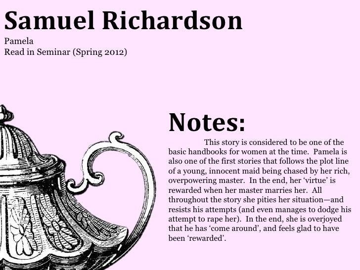 Samuel RichardsonPamelaRead in Seminar (Spring 2012)                                Notes:                                ...