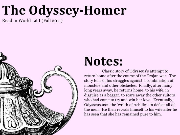 The Odyssey-HomerRead in World Lit I (Fall 2011)                                  Notes:                                  ...