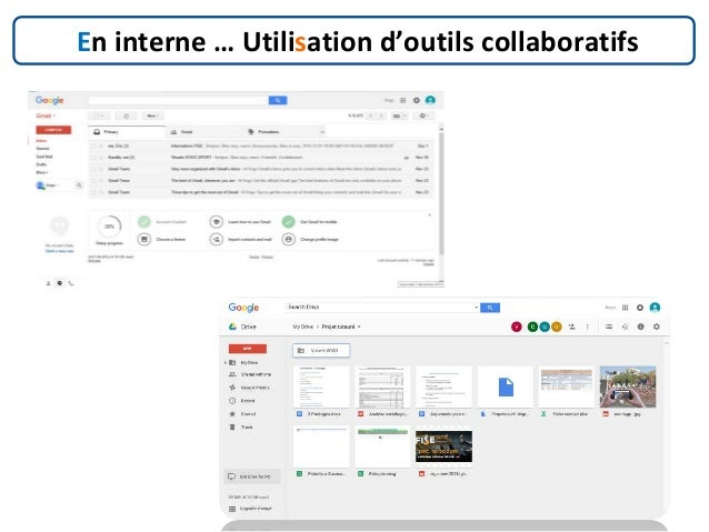 En interne … Utilisation d'outils collaboratifs