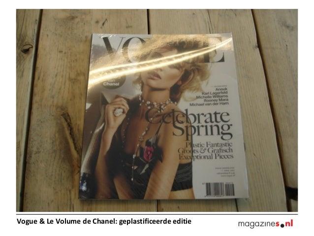 Vogue & Le Volume de Chanel: geplastificeerde editie