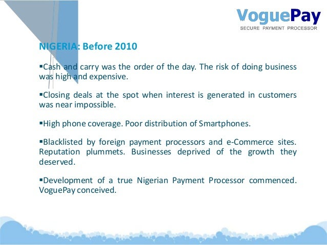 Receive Payments Online - Growing with VoguePay