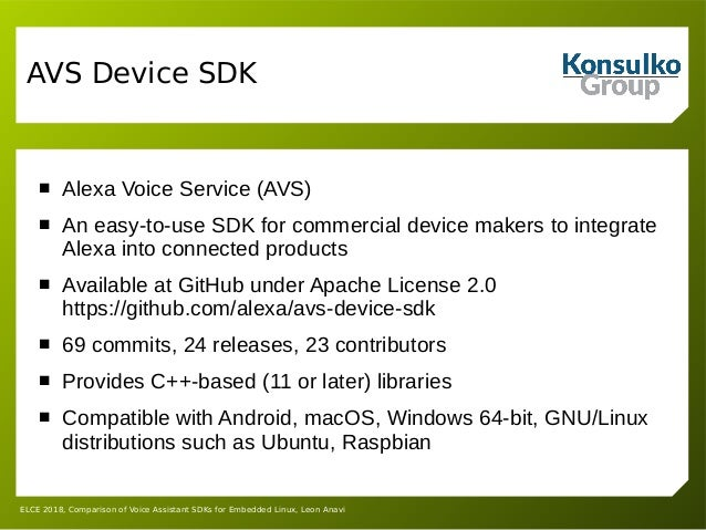 Comparison of Voice Assistant SDKs for Embedded Linux Devices