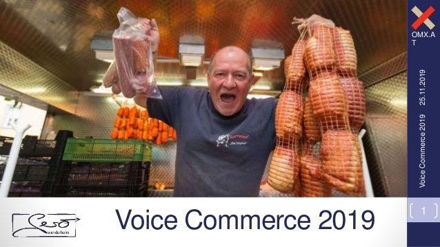 OMX.A T Alexa, wir müssen reden! OMK Lüneburg – 27.09.2018 25.11.2019VoiceCommerce2019 1 Voice Commerce 2019