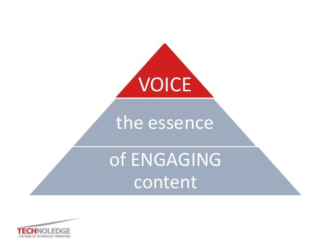 VOICE the essence of ENGAGING content