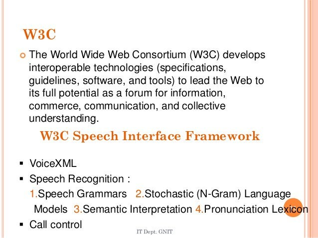W3C  The World Wide Web Consortium (W3C) develops interoperable technologies (specifications, guidelines, software, and t...