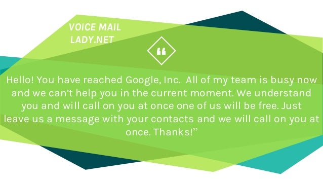 Best professional voicemail greetings you can use net 16 m4hsunfo