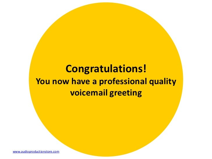 6 rs for professional voicemail greetings m4hsunfo