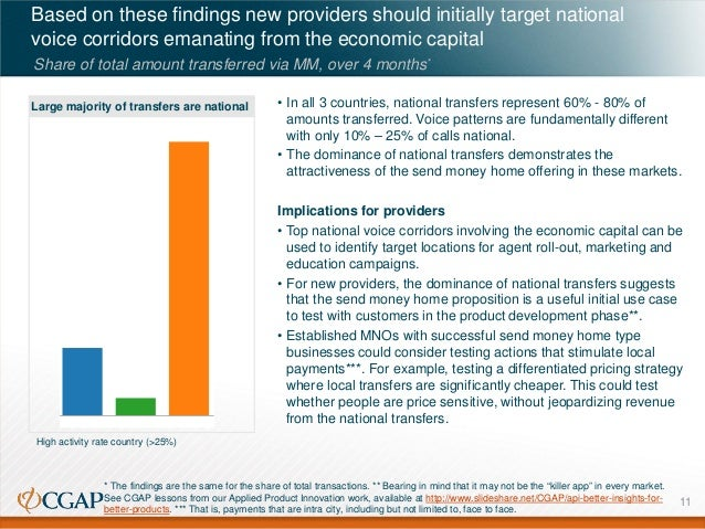 Based on these findings new providers should initially target national voice corridors emanating from the economic capital...