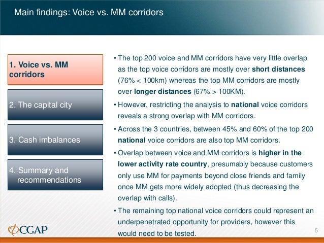 Main findings: Voice vs. MM corridors  1. Voice vs. MM corridors  • The top 200 voice and MM corridors have very little ov...