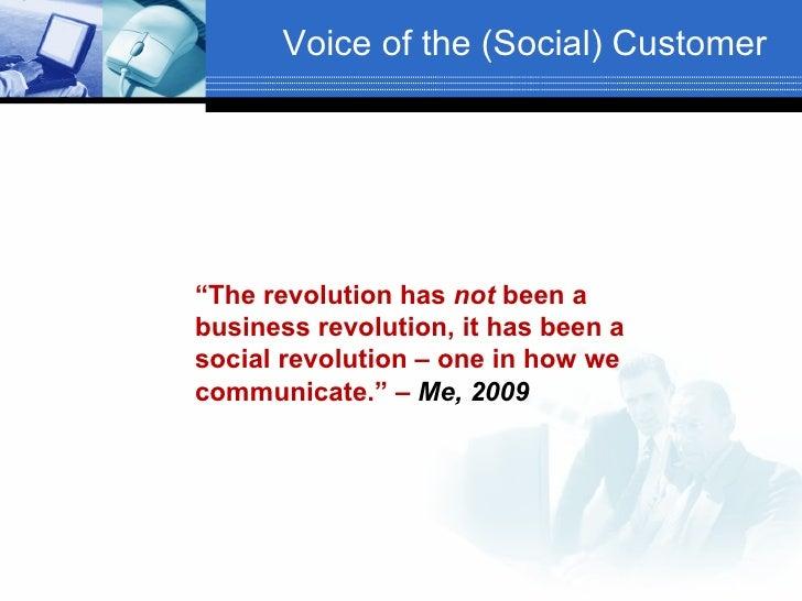 Voice Of The Customer 2009 Slide 3