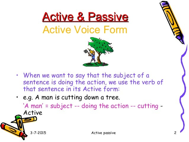 Voice of verbs active and passive