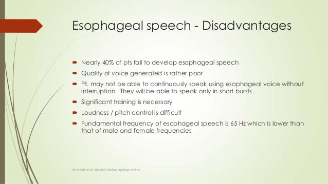 voice rehabilitation following laryngectomy