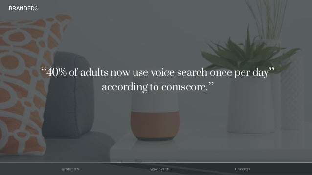 """@mikerjeffs Voice Search Branded3 """"40% of adults now use voice search once per day"""" according to comscore."""""""