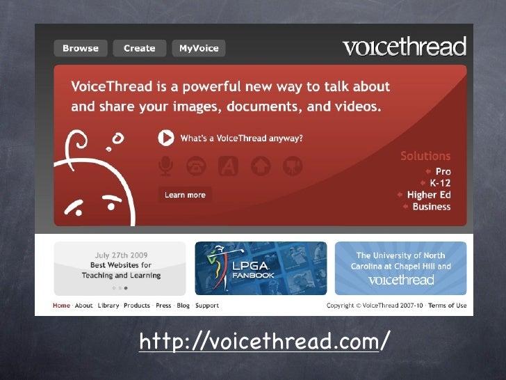 Voicethread http://voicethread.com/