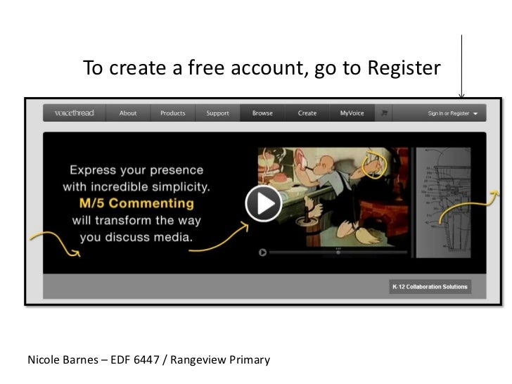 To create a free account, go to Register<br />Nicole Barnes – EDF 6447 / Rangeview Primary<br />