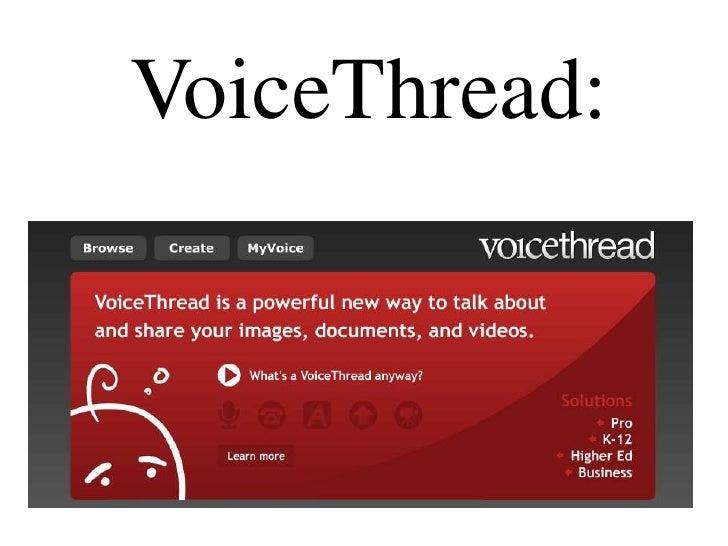 VoiceThread: <br />