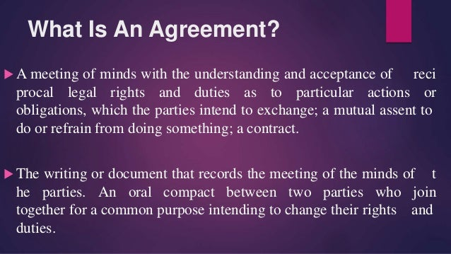Void Agreement