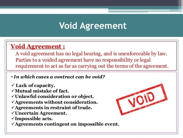 Void Agreement Contract Ppt