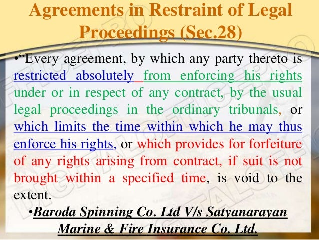 exceptions to restraint of trade The article basically deals with the exceptions to the agreement in restraint of trade provided in sec 27 of the indian contract act, 1872.