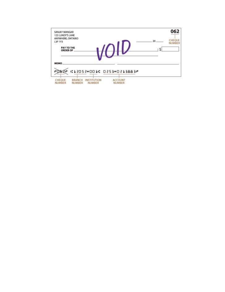 Void cheque