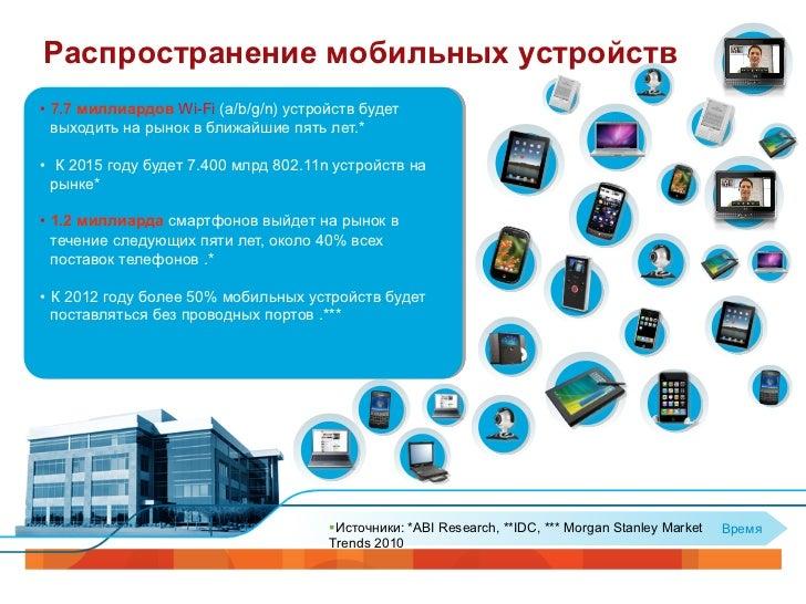 BigРаспространение мобильных устройств• 7.7 миллиардов Wi-Fi (a/b/g/n) устройств будет   выходить на рынок в ближайшие пя...