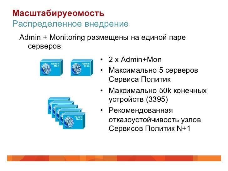 МасштабируеомостьРаспределенное внедрение Admin + Monitoring размещены на единой паре   серверов         Admin            ...