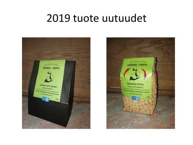2021 Uutuudet • Gluteeniton kaakao härkäpapumuro • Proteiinia 24,5% • Tulossa vielä muitakin uusia tuotteita