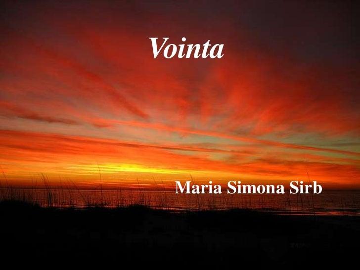 Vointa  Maria Simona Sirb