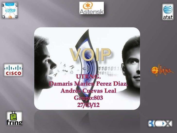 La Voz sobre IP (VoIP, Voice over IP) es unatecnología que permite la transmisión de la voz através de redes IP en forma d...