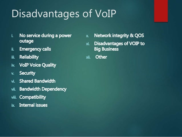 advantages and disadvantages of voip VOIP Pros