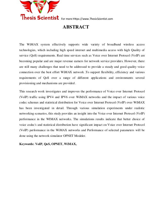 voip opnet thesis