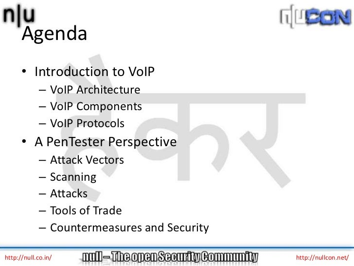 VoIP – vulnerabilities and attacks Slide 2