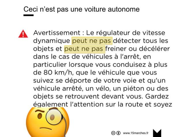 www.15marches.fr Ceci n'est pas une voiture autonome