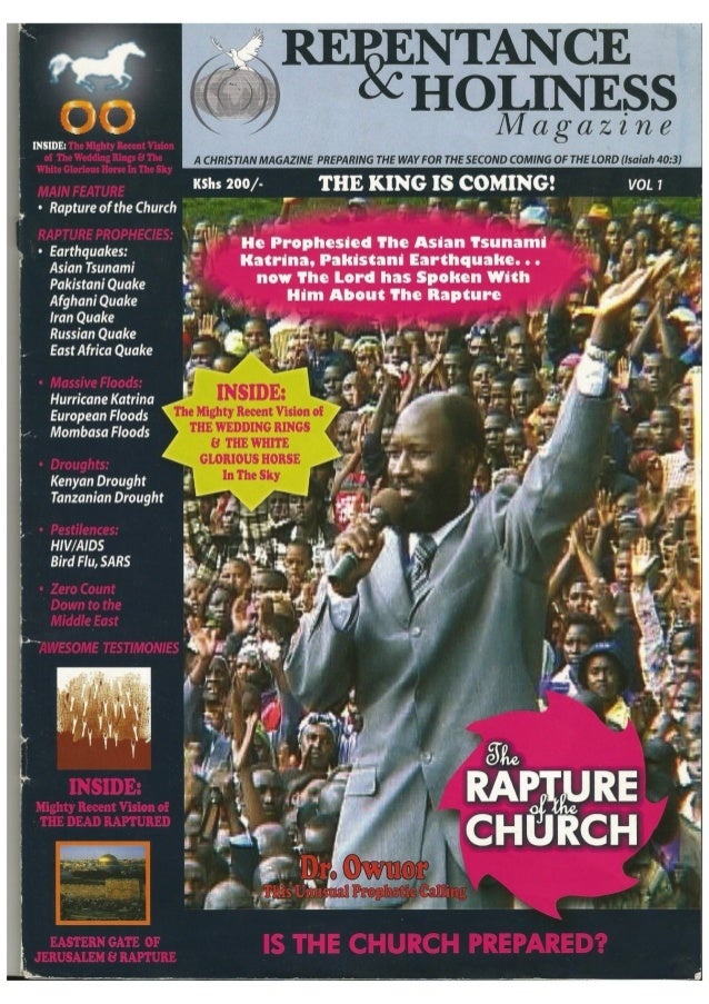 Vol 1 Repentance Magazine  The Rapture by prophet D Owuor