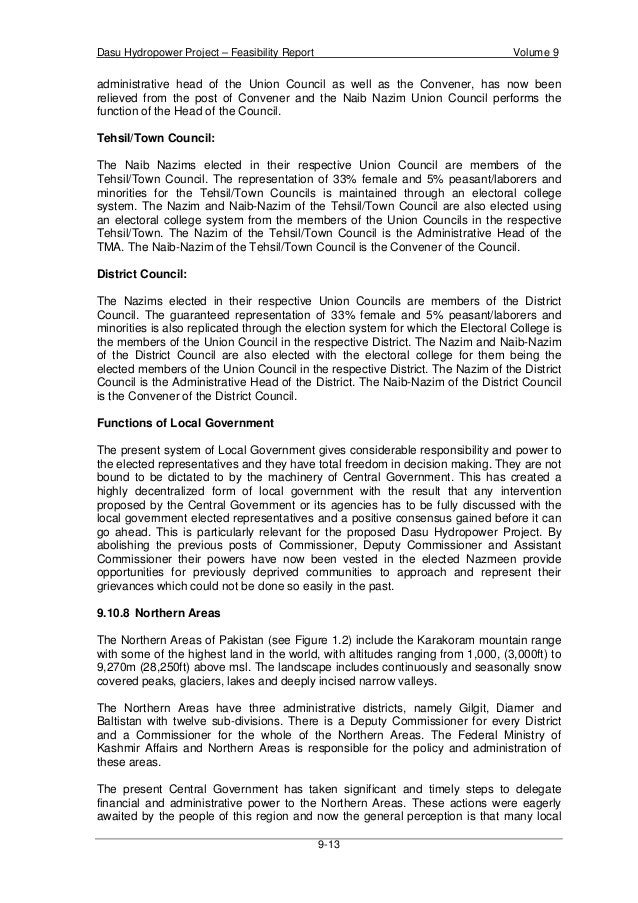 Vol.9 environmental impact assessment and resettlement aspects - Dasu Dam