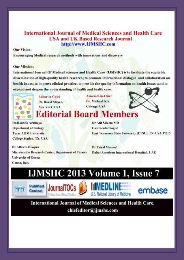 International Journal of Medical Sciences and Health Care Vol-1 Issue-7 (Ijmshc-701) http://www.ijmshc.com Page 1 Radiatio...