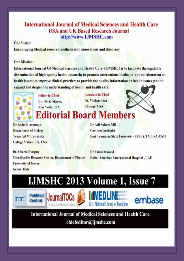 International Journal of Medical Sciences and Health Care Vol-1 Issue-7 (Ijmshc-703)