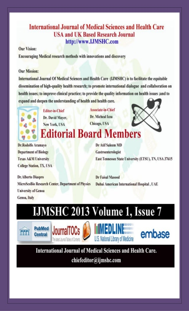 International Journal of Medical Sciences and Health Care Vol-1 Issue-7 (Ijmshc-704) http://www.ijmshc.com Page 2