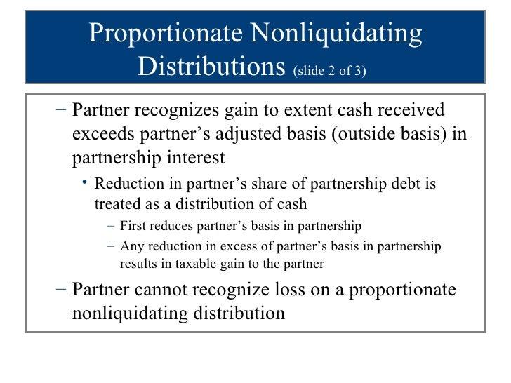 What are nonliquidating distributions