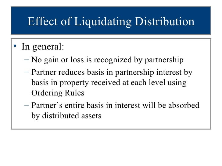receipt of liquidating dividends Laws in preparing the uniform principal and income act was as follows: matthew s rae receipts normally apportioned] liquidating asset.