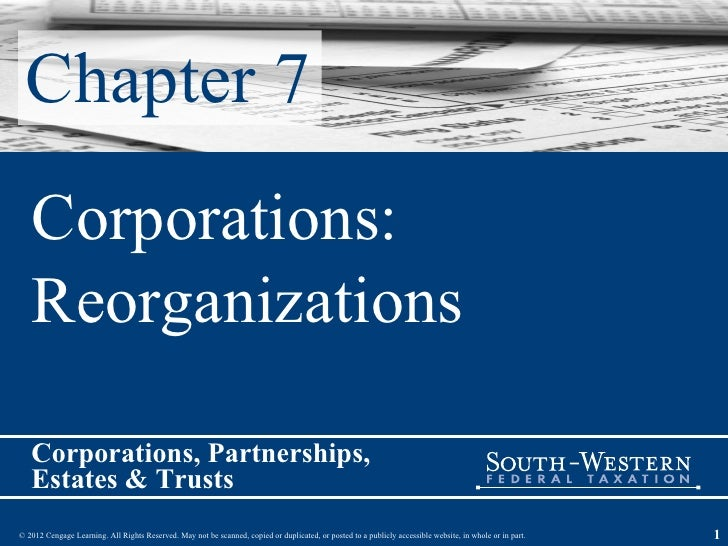Chapter 7 Corporations:  Reorganizations