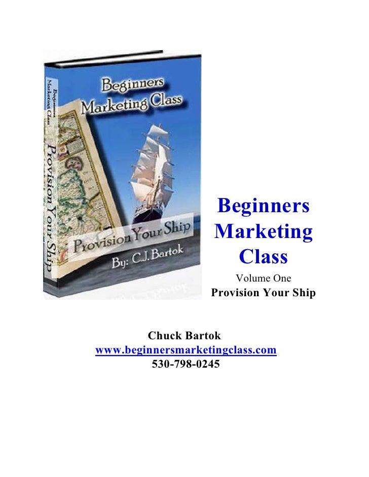 Beginners                    Marketing                      Class                       Volume One                   Provi...