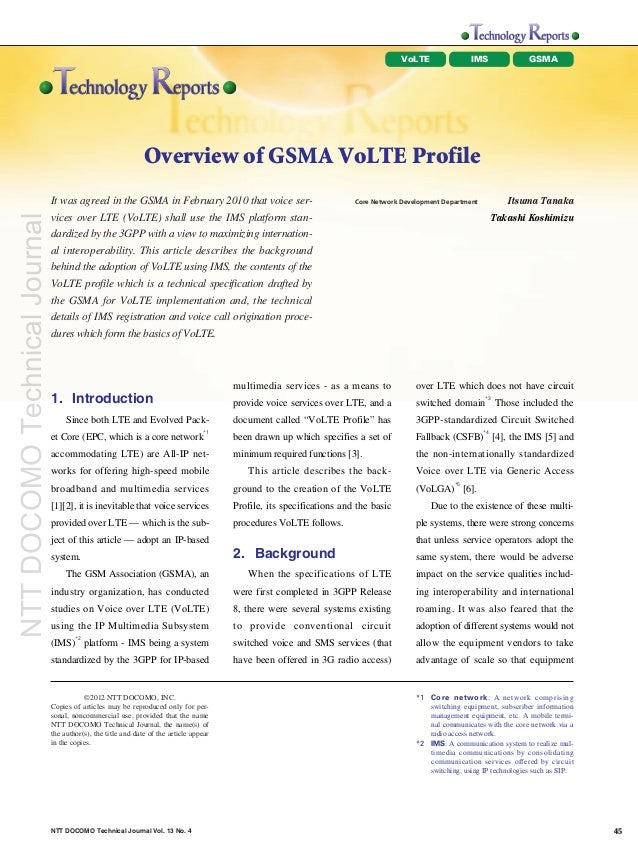VoLTE               IMS               GSMA                                                               Overview of GSMA ...